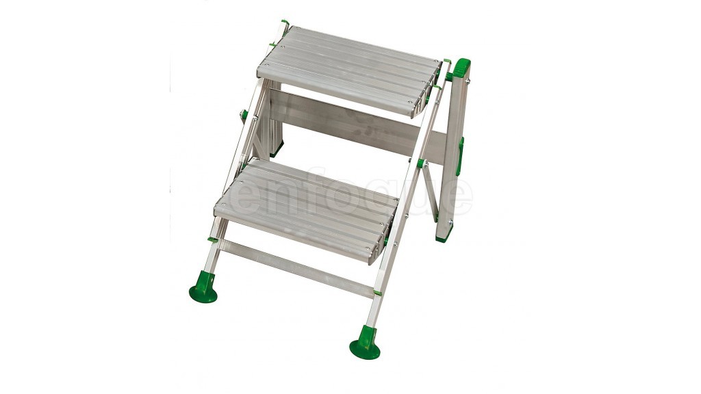 Taburete escalera industrial de aluminio plegable 2 for Escalera aluminio plegable easy